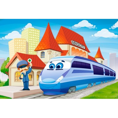 Puzzle  Castorland-040216 XXL Teile - At the Railway Station
