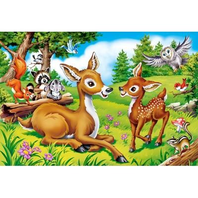 Puzzle  Castorland-040261 XXL Teile - Dear Little Deer