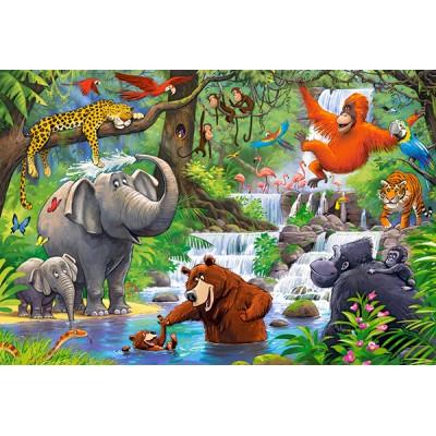 Puzzle  Castorland-040315 XXL Teile - Jungle Animals