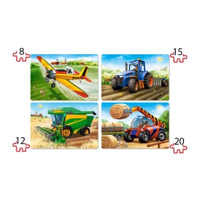 Puzzle  Castorland-041039 XXL Teile - Landmaschinen