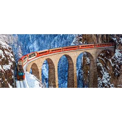 Puzzle  Castorland-060016 Landwasser Viaduct, Swiss Alps