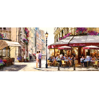 Puzzle  Castorland-060085 Richard Macneil: Lovers in Paris