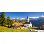 Puzzle  Castorland-060153 Church Marterle, Carinthia, Österreich