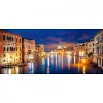 Puzzle  Castorland-060245 The Grand Canal by Night, Venedig