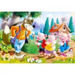 Puzzle  Castorland-06519 Die drei kleinen Schweinchen