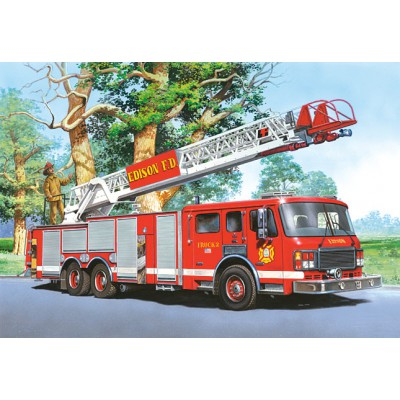 Puzzle  Castorland-06595 Feuerwehrauto