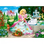 Puzzle  Castorland-066056 Prinzessin