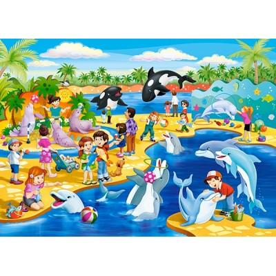 Puzzle  Castorland-066148 Delphinarium