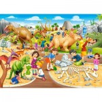 Puzzle  Castorland-070046 Dinosaurierpark