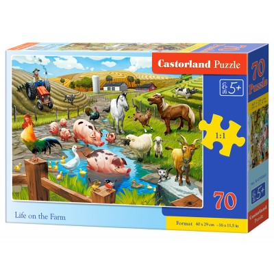 Puzzle  Castorland-070060 Life on the Farm