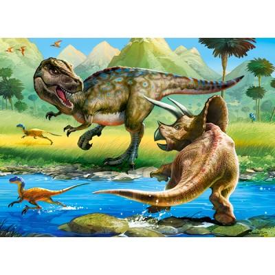 Puzzle  Castorland-070084 Dinosaurier