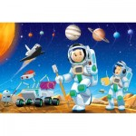 Castorland-08521-KO2 Mini Puzzle - Weltraumforschung