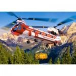 Castorland-08521-LO1 Mini Puzzle - Hubschrauber