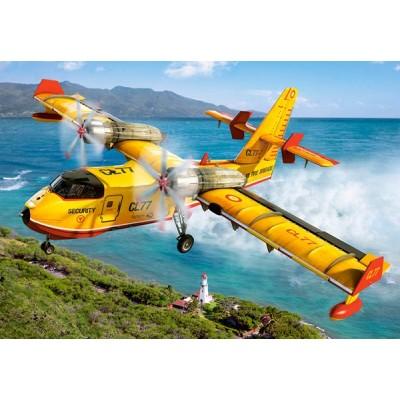 Castorland-08521-LO3 Mini Puzzle - Hubschrauber