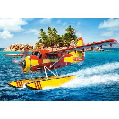 Castorland-08521-LO4 Mini Puzzle - Wasserflugzeug
