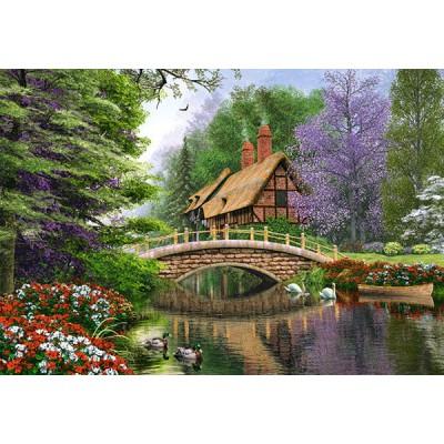 Puzzle Castorland-102365 Dominic Davison: Landhaus am Fluss