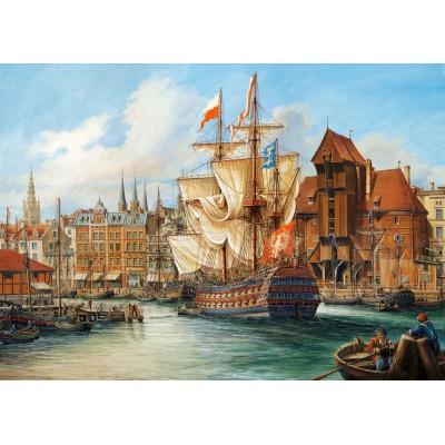 Puzzle  Castorland-102914 Das alte Danzig, Polen