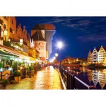 Puzzle  Castorland-103379 Gdansk bei Nacht