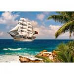 Puzzle  Castorland-103430 Sailing in the Tropics