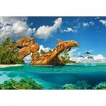 Puzzle  Castorland-103508 Dolphin Paradise
