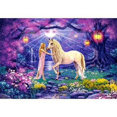 Puzzle Castorland-103614 Unicorn Garden