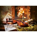 Puzzle  Castorland-103621 Still Life with Violin and Painting