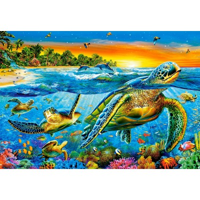 Puzzle Castorland-103652 Underwater Turtles