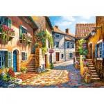 Puzzle  Castorland-103744 Rue de Village