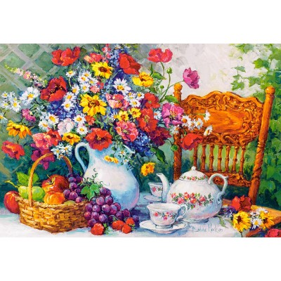 Puzzle  Castorland-103836 Time for Tea