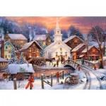Puzzle  Castorland-103850 Weihnachten