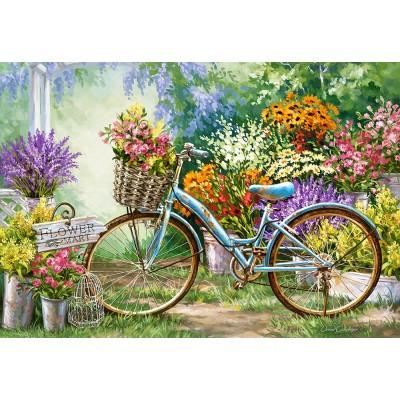 Puzzle  Castorland-103898 The Flower Mart