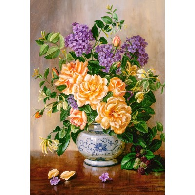 Puzzle Castorland-103928 Floral
