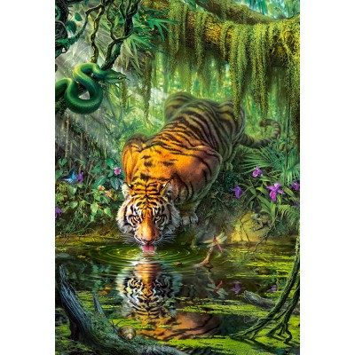 Puzzle  Castorland-103935 Tiger in the Jungle