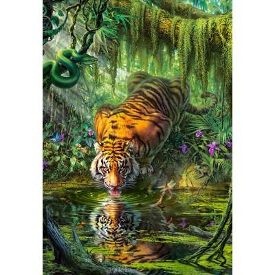 Puzzle  Castorland-103935 Tiger in the Jungle