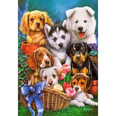 Puzzle  Castorland-104048 Puppies
