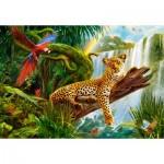 Puzzle  Castorland-104093 Resting Leopard