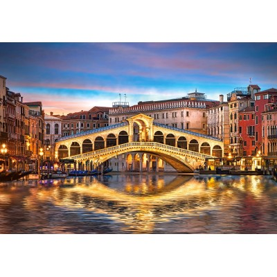 Puzzle  Castorland-104215 Rialto by Night, Venedig