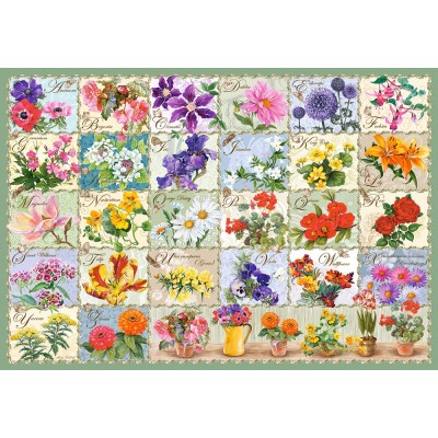 Puzzle  Castorland-104338 Vintage Floral