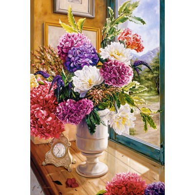 Puzzle  Castorland-104444 Still Life with Hydrangeas
