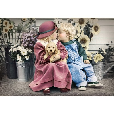 Puzzle  Castorland-104451 First Love