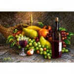 Puzzle  Castorland-104604 Fruit and Wine