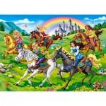 Puzzle  Castorland-111053 Princess Horse Ride