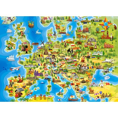 Puzzle  Castorland-111060 Europakarte