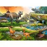 Puzzle  Castorland-111084 World of Dinosaurs