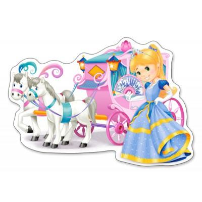 Puzzle  Castorland-120017 XXL Teile - Die Kutsche der Prinzessin