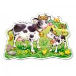 Puzzle  Castorland-120062 XXL Teile - Kühe auf der Weide