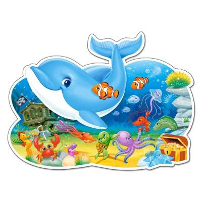 Puzzle  Castorland-120093 XXL Teile - Freunde unter Wasser