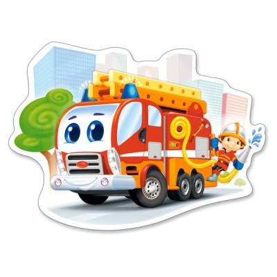 Puzzle  Castorland-120109 XXL Teile - Feuerwehrauto