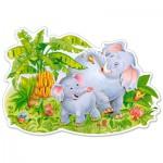 Puzzle  Castorland-120116 XXL Teile - Spielende Elefanten