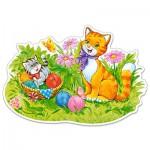 Puzzle  Castorland-120123 XXL Teile - Katzenfamilie